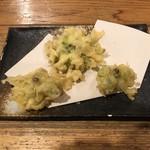 千駄木うどん 汐満 - ふきのとうの天ぷら