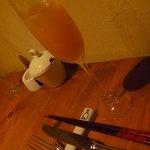 イタリア料理 アルセーバ - ディナー2,700円のコース。ウェルカムドリンク☆