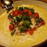 イタリア料理 アルセーバ - 鯛のカルパッチョ グリーンオリーブ