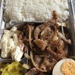 たきたて弁当 - (◞ꈍ∇ꈍ)◞生姜焼きは後で食べよーと思ったのにー2個即食い!笑