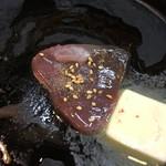 割烹 宗よし - 心臓部分をバター焼き