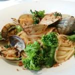 トラットリア・ヒロ 銀座  - シチリア島産カラスミと魚介のペペロンチーノ