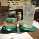 80363172 - 冷酒 国稀、レモンサワー。