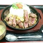 宝手箱 - 料理写真:俺の肉シリーズ ステーキ丼 1,000円