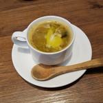 イタリアン アンド ワイン チャコール - ランチのスープ