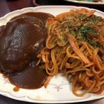 武駒 - 料理写真:ハンバーグナポリタン