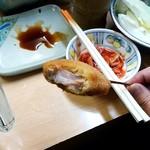 元祖串かつ だるま - 元祖串かつ だるま@新世界総本店 八種盛りセットの漬けマグロ