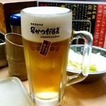 元祖串かつ だるま - 元祖串かつ だるま@新世界総本店 生ビール(520円)