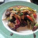 中華工房おかげさま - 牛肉のにんにく炒め