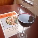 栄町スパゲッティMammy's - グラスワイン(赤);イタリア産かな? ドライだがボディ厚めでGood! @2018/02/03