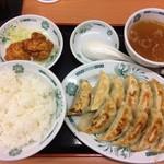 日高屋 - 餃子ダブル定食