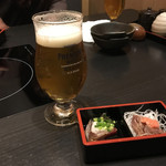 個室居酒屋 馬に魚に  - 生ビール680円