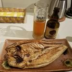 80384930 - 焼ホッケと季節限定の小樽ビールのバンベルガー