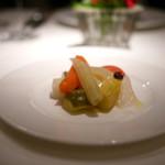 コート ドール - 冷製季節の野菜の煮込み コリアンダー風味