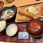 まるは食堂 - 料理写真:まるは定食+追加海老フライ
