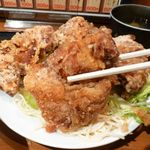 こだわりや - 唐揚げ定食(大盛)800円(ご飯、みそ汁おかわり自由)