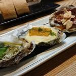 かき鐵 - 殻付牡蠣3種