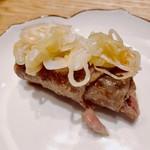 焼肉すどう - サーロインクルリンパ様〜ボスの提案丸パクリな酢葱で食べよう!