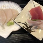 80399019 - プラス500円で食べ放題のお刺身…1皿目、2皿目〜♪
