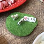 しゃぶしゃぶ 焼肉食べ放題 めり乃 - 初めは牛さん、羊さん一匹ずつです。