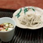 緒方 - 御飯(鴨汁と十割蕎麦)