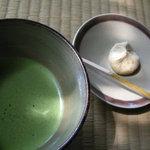 有楽苑 - 抹茶と栗きんとん