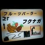 フルーツパーラーフクナガ - 店舗サイン