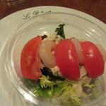 オ・タン・ペルデュ - トマトと海老のサラダ