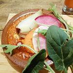 80404508 - ラザニアと産直有機の焼き野菜