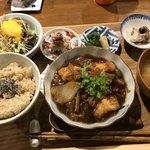ソラマメ食堂 - セミナーの時のランチ。私は玄米が苦手なんですが、ソラマメ食堂さんの玄米はすごく美味しいです。玄米苦手な人もびっくりしますよ!