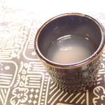 平田屋そば店 - 蕎麦湯