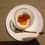 イタリア料理 トラットリア ノーチェ - 料理写真:カリフラワーのムース オマールのジュレ