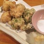 魚金 - 白子の天ぷら