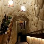 逸品飲茶縁茗 - 地下へ下りる階段