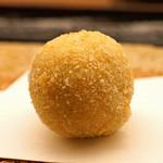 蒼穹 - 海老芋のおかき揚げ ピータン入り