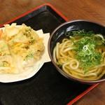 伊都菜彩 まるいとうどん - 料理写真:野菜天うどん