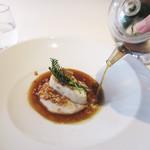 COMMUNICO  - 4.メイン:鰆のロースト トランペット茸と椎茸のスープ