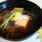 南蛮亭 - にしん、ピーナッツ豆腐入りのお蕎麦