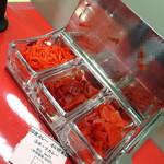 印度カレー 小いけ - 福神漬け&紅生姜