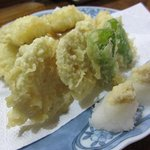 魚ざん - あなごの天ぷら