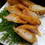ナギサテイ - 岩手産鶏フィレ肉のフリット、ゴマクリームソース
