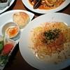 クオーコ タカハシ - 料理写真:パリパリ海老の明太子クリームパスタセット1,544円(ドリンクバー、スープバー、デザートビュッフェ付)