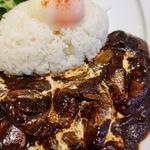 文明堂カフェ - 半熟卵の文明堂ハヤシライス(ライス大盛り無料) 980円