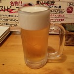 厳選黒毛牛一頭買い ニクバルダカラ - 「生ビール (500円)」