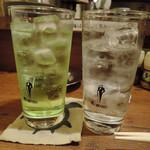 やきとり魂朝太郎 - 焼酎水割りとライムサワー