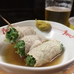 下山酒店 - 豚の水菜巻き