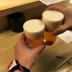 和洋酒菜 ひで - カンペー(*  ̄▽)o□☆□o(▽ ̄ *) カンパァーイッ♪