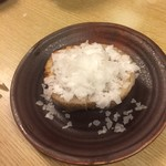和洋酒菜 ひで - 蓮根焼き 雪塩のせ