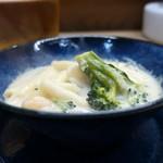 家庭料理 小川 - ホワイトソースマカロニ?