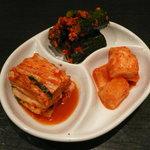 韓国レストラン ハヌリ - ラフコース(3,500円)~キムチ盛合せ